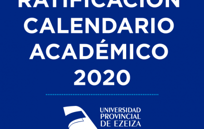Ratificación Calendario Académico 2020