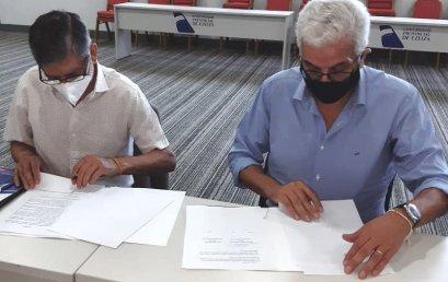 Firma  de Convenio con la Municipalidad Roque Pérez