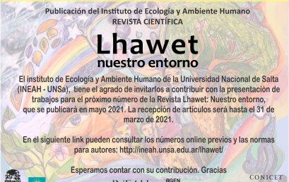 Convocatoria de artículos para revista científica Lhawet